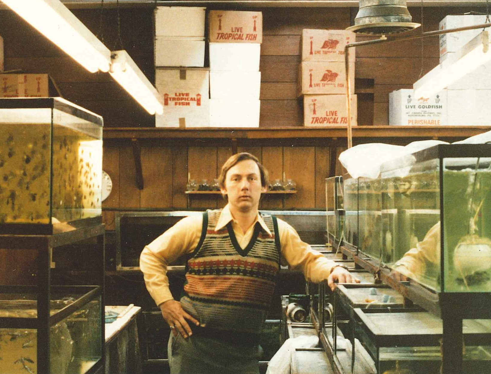 Buddy Baker in Fishroom - 1970's