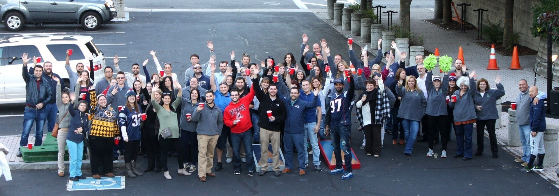 Image of team at tailgate party - 2014